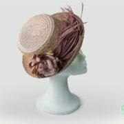 Sombrero canotie Briseida realizado a mano de Pecal®