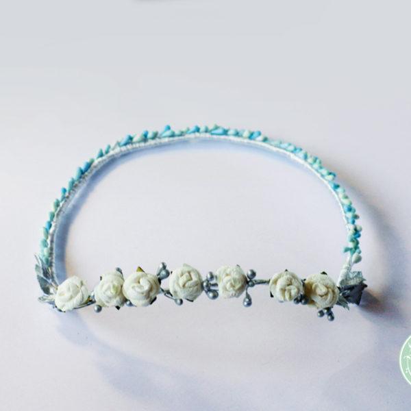 Tocado Corona Vania realizado a mano de Pecal®